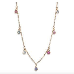 """Nadri """"Bloom"""" Cubic Zirconia Scatter Necklace"""